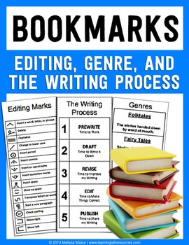 Bookmarks - Editing, The Writing Process, and Genres