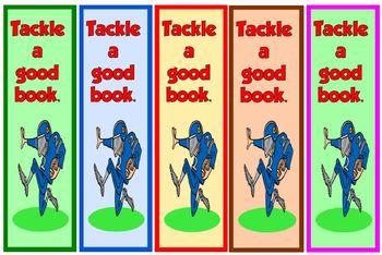 Bookmarks Football Theme {Free}