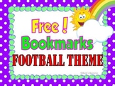 Bookmarks Football Theme {Free}