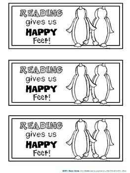 Bookmarks to Color : Penguins