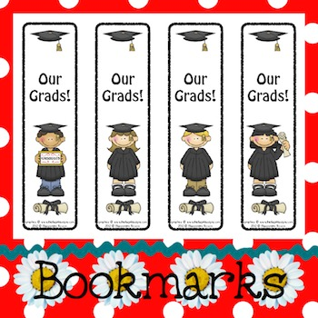 Bookmarks: Graduates Black Cap and Gown