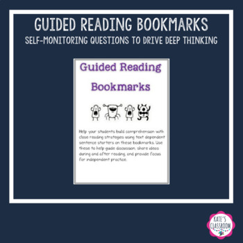 Bookmarks: Guided Reading - Strategic Reading - Close Reading - Discussions