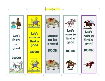 Bookmarks-Horsey-Themed