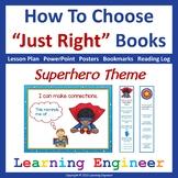 2nd Grade Literacy Center: Just Right Books - 5 Finger Rule