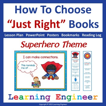 Just Right Books with 5 Finger Rule (Reading Strategies Po