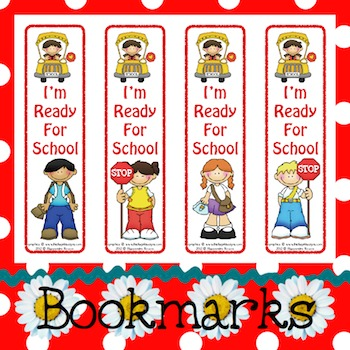 Bookmarks: I'm Ready For School