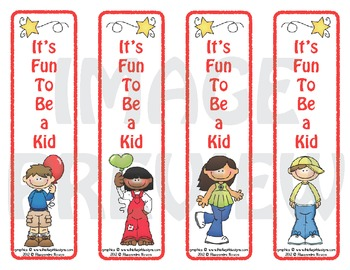 Bookmarks: It's Fun To Be a Kid 1