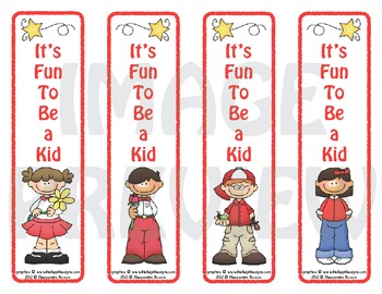 Bookmarks: It's Fun To Be a Kid 3
