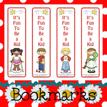 Bookmarks: It's Fun To Be a Kid 4