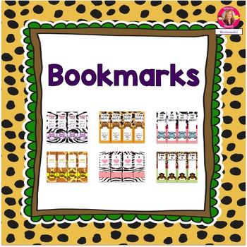 Bookmarks {Jungle-Safari Themed}