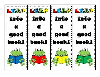 Frog Bookmarks- LEAP into a good book
