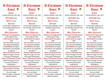 A Christmas Carol edition of Bookmarks Plus—Fun Freebie & Handy Reading Aid!