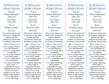 A Midsummer Night's Dream ed. of Bookmarks Plus—Fun Freebie & Handy Reading Aid!