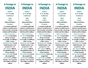 A Passage to India edition of Bookmarks Plus—A Handy Little Reading Aid!