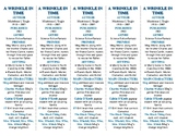 A Wrinkle in Time edition of Bookmarks Plus—Aids understan
