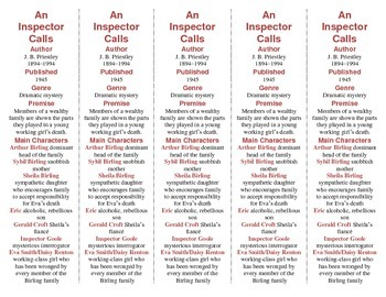 An Inspector Calls edition of Bookmarks Plus—Fun Freebie & Handy Reading Aid!