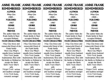 Anne Frank Remembered edition of Bookmarks Plus—Fun Freebie & Handy Reading Aid!