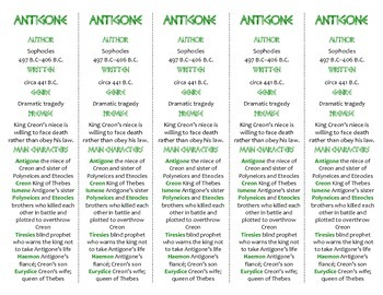 Antigone edition of Bookmarks Plus—A Handy Little Reading Aid!