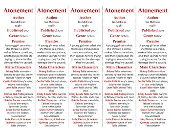 Atonement edition of Bookmarks Plus—Fun Freebie & Handy Reading Aid!