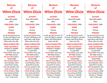 Because of Winn-Dixie edition of Bookmarks Plus—A Handy Little Reading Aid!