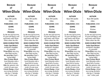 Because of Winn-Dixie edition of Bookmarks Plus—Fun Freebie & Handy Reading Aid!