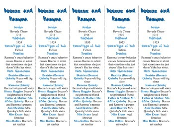 Beezus and Ramona edition of Bookmarks Plus—A Handy Little Reading Aid!