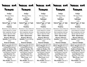 Beezus and Ramona edition of Bookmarks Plus—Fun Freebie & Handy Reading Aid!