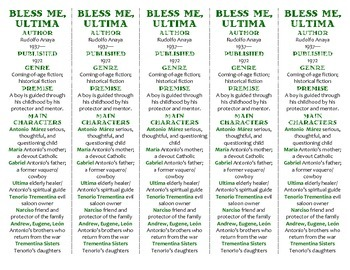 Bless Me, Ultima edition of Bookmarks Plus—A Handy Little Reading Aid!