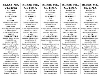 Bless Me, Ultima edition of Bookmarks Plus—Fun Freebie & Handy Reading Aid!