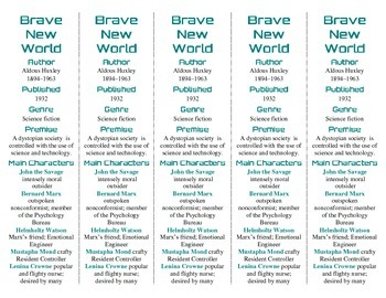 Brave New World edition of Bookmarks Plus—Fun Freebie/Handy Reading Aid!