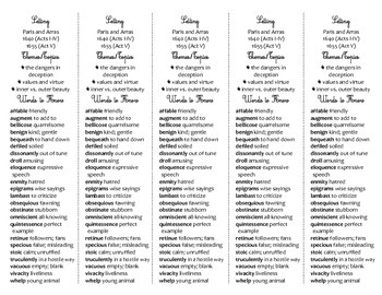 Cyrano de Bergerac edition of Bookmarks Plus—Fun Freebie & Handy Reading Aid!