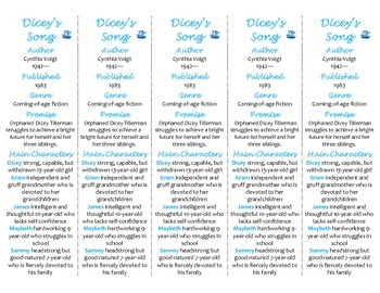 Dicey's Song edition of Bookmarks Plus—Fun Freebie & Handy Reading Aid!