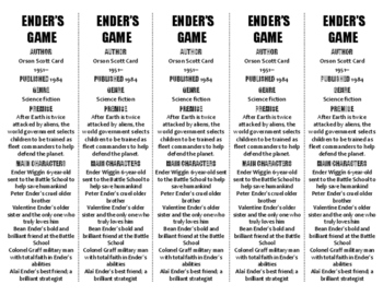 Ender's Game edition of Bookmarks Plus—Fun Freebie & Handy Reading Aid!