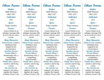 Ethan Frome edition of Bookmarks Plus—Fun Freebie & Handy Reading Aid!
