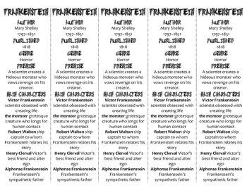 Frankenstein edition of Bookmarks Plus—Fun Freebie & Handy Reading Aid!