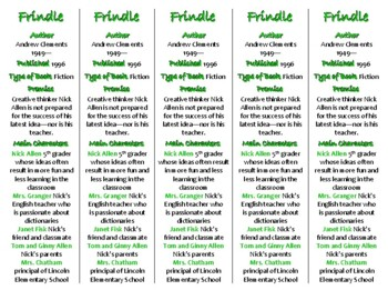 Frindle edition of Bookmarks Plus—Fun Freebie & Handy Reading Aid!