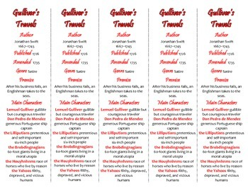 Gulliver's Travels edition of Bookmarks Plus—Fun Freebie & Handy Reading Aid!