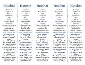 Hatchet edition of Bookmarks Plus—Fun Freebie & A Handy Little Reading Aid!