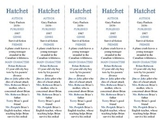 Hatchet edition of Bookmarks Plus—Aids understanding of the book!