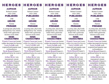 Heroes edition of Bookmarks Plus—A Handy Little Reading Aid!
