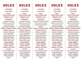 Holes edition of Bookmarks Plus—Fun Freebie & Handy Reading Aid! FREE!