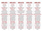 Holes edition of Bookmarks Plus—Fun Freebie & Handy Reading Aid! FREE!