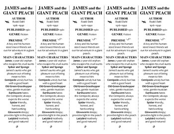 James and the Giant Peach ed. of Bookmarks Plus—Fun Freebie & Handy Reading Aid!