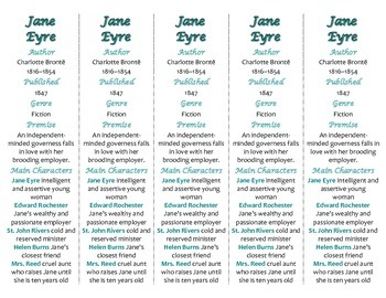 Jane Eyre edition of Bookmarks Plus—Fun Freebie & Handy Reading Aid!