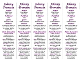 Johnny Tremain edition of Bookmarks Plus—Fun Freebie & Handy Reading Aid!