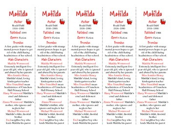 Matilda edition of Bookmarks Plus—Fun Freebie & Handy Reading Aid!