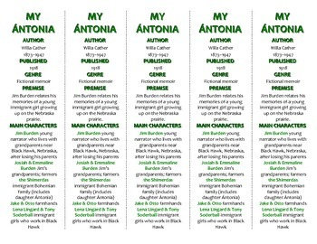 My Antonia edition of Bookmarks Plus—Fun Freebie & Handy Reading Aid!
