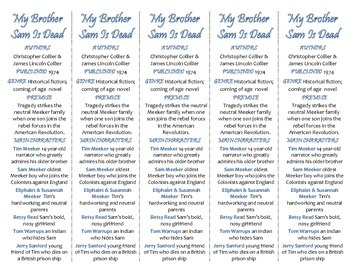 My Brother Sam Is Dead edition of Bookmarks Plus—Handy reading aid!