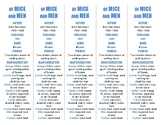 Of Mice and Men edition of Bookmarks Plus—Fun Freebie & Ha