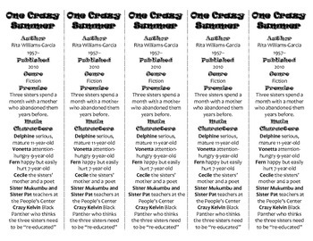 One Crazy Summer edition of Bookmarks Plus—Fun Freebie & Handy Reading Aid!